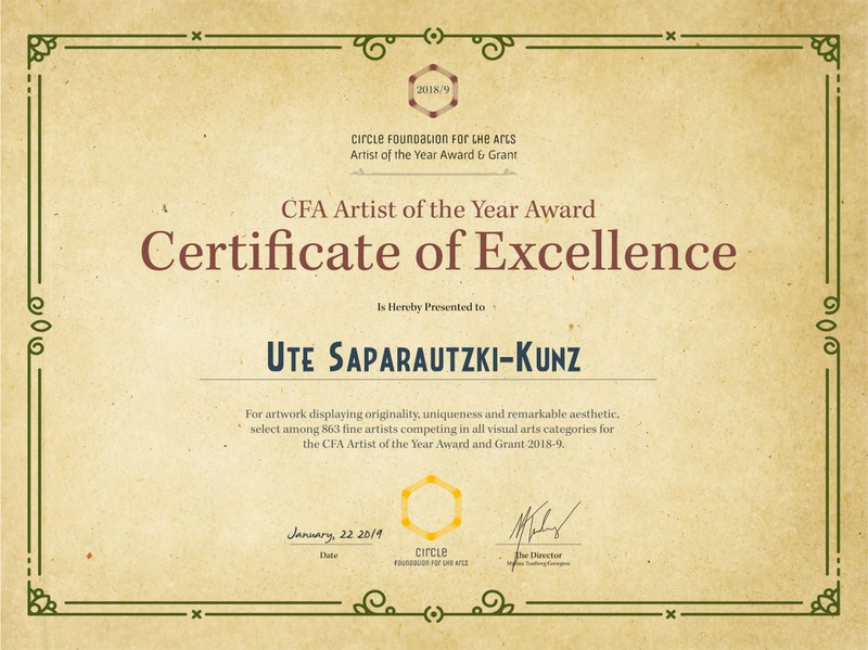 Certrificate of Excellence
